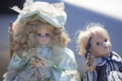 Antique dolls for nostalgia Stock Photos