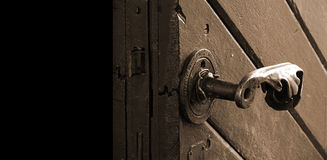Antique door Stock Image