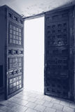 Antique door ajar, outer glow Royalty Free Stock Image