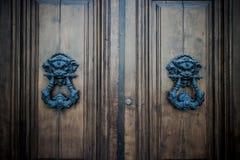 Antique door background Stock Images
