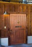 Antique Door with Brass Knocker Royalty Free Stock Photos