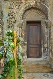 Antique door. Church`s old door in France Royalty Free Stock Photo