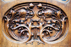 Antique door detail Stock Images