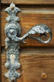 Antique Door Handle. Closeup image of antique pewter door handle royalty free stock photography
