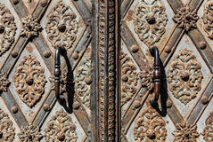 Antique door and Handle Royalty Free Stock Photo
