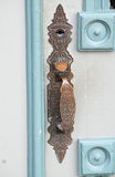 Antique Door Handle on City Hall, La Connor, Washington Stock Photos