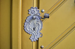 Antique door handle Stock Images