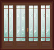 Antique door illustration Royalty Free Stock Image