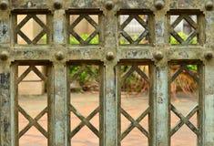 Antique door. The antique iron door background Royalty Free Stock Images
