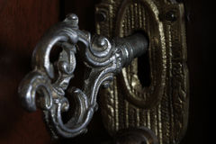 Antique door key Stock Photo