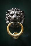 Antique door knocker in the form of a lion's head, Rome, Italy Royalty Free Stock Images