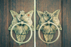 Antique Door knocker Stock Photo