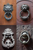 Antique door knockers Royalty Free Stock Photos