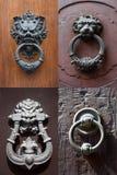 Antique door knockers Royalty Free Stock Photos