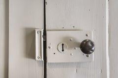 Antique door lock Stock Photo