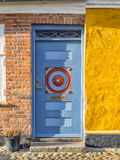Antique door in medieval city of Ribe, Denmark Stock Photo