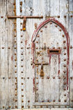 Antique door in morocco africa rusty brown Stock Photo