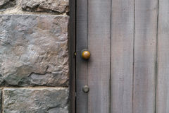 Antique door retro style  . Royalty Free Stock Image