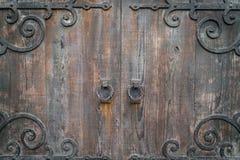 Antique door retro style  . Stock Photos