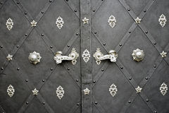 Door with Rusty Floral Metal Stock Photos