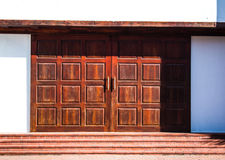 Antique door. Structure style surface temple Royalty Free Stock Images