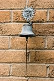 Antique doorbell. Oxidized copper antique doorbell Stock Photos