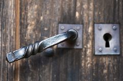 Antique doorhandle Stock Images