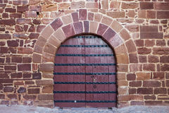 Antique doors, gates Portuguese castle. Royalty Free Stock Photography