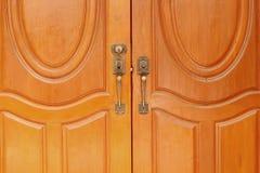 Antique doors with handles Stock Image