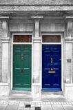 Antique Doors in London, England Royalty Free Stock Image