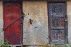 Antique doors. Royalty Free Stock Photos