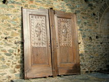 Antique doors at Sacra di San Michele Stock Photos