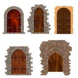 Antique doors. Set of antique doors, drawn in vector Royalty Free Stock Photos