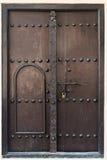 Antique double wooden door Stock Photography