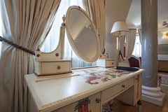 Antique dressing table in luxury villa Stock Photos