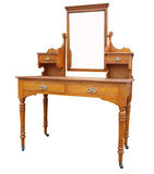 Antique Dressing Table with Mirror stock photography