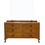 Antique Dressing Table with Mirror Royalty Free Stock Photography