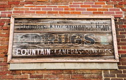 Antique Drugstore Sign Stock Photography