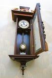 Antique drum head grandfather clock Stock Photography