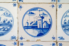 Antique dutch tile Stock Image