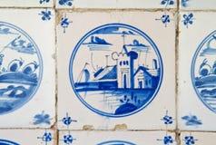 Antique dutch tile Stock Image