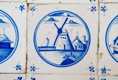 Antique dutch tile Stock Photography