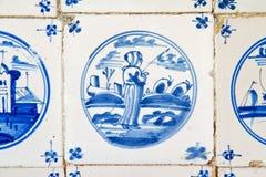 Antique dutch tile Royalty Free Stock Photo