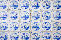 Antique dutch tiles Stock Images