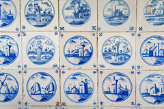 Antique dutch tiles Royalty Free Stock Image