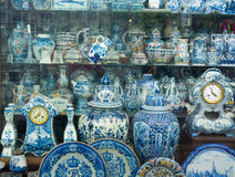 Antique Dutch traditional porcelain Royalty Free Stock Photo
