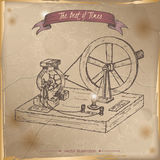 Antique dynamo generator model sketch placed on old paper background. Stock Image