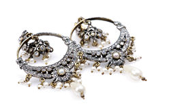 Antique ear danglers jewellery Royalty Free Stock Photo