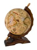 Antique earth globe. On white background Royalty Free Stock Images