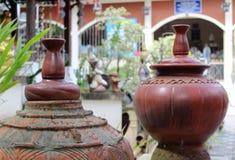 Antique earthenware jar. Stock Photography
